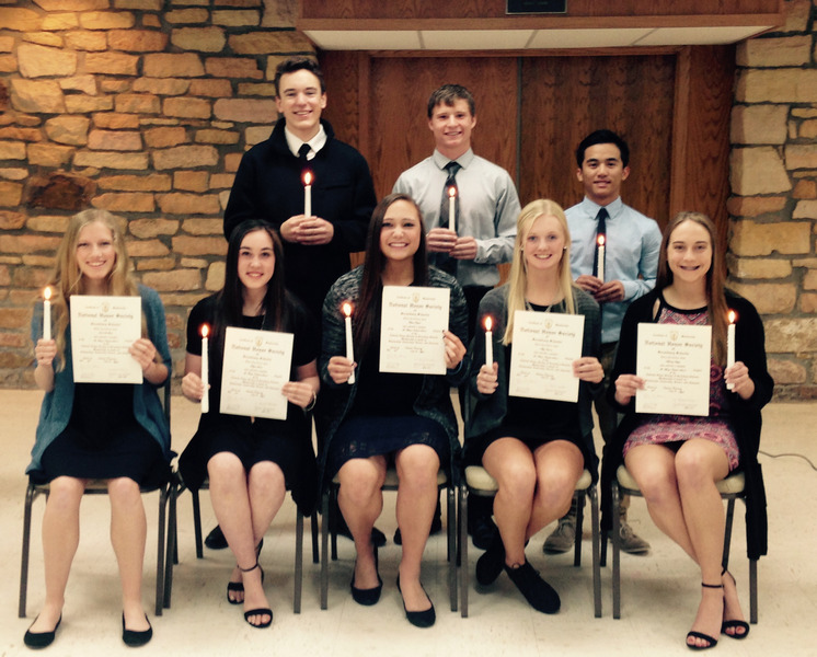 St. Mary's inducts students into National Honor Society