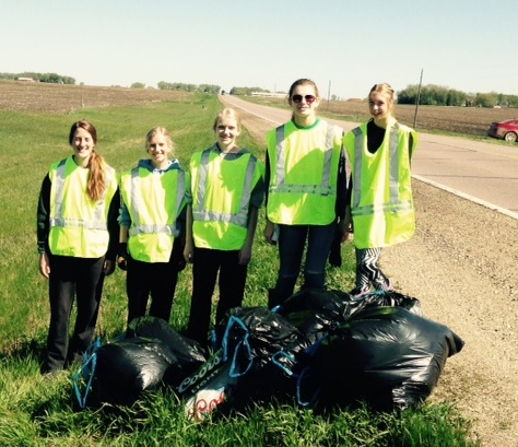 St. Mary's Honor Society cleans ditches