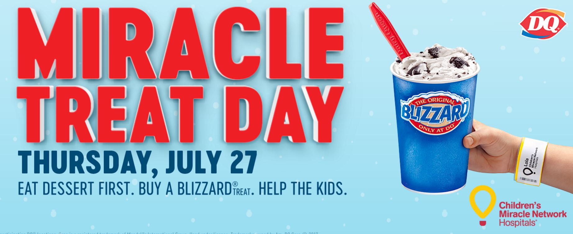 Pre-Order Blizzards at Dairy Queen - Support Children's Miracle Network