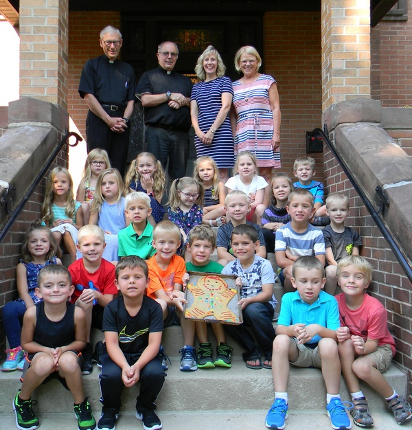 St. Mary's Kindergarteners catch Gingerbread Man