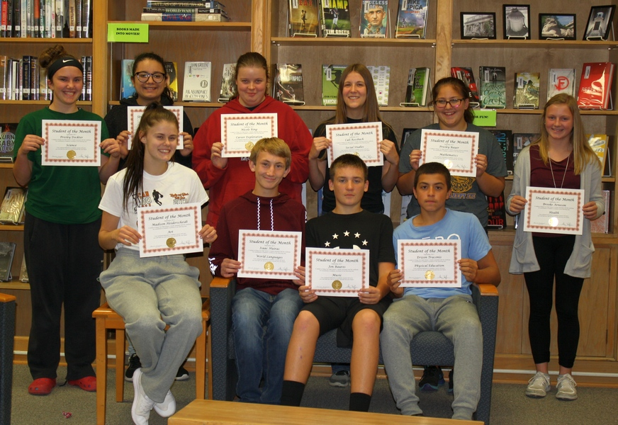 Sleepy Eye High School September Students of Month