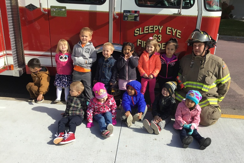 Discovery Time Preschool learns about fire trucks