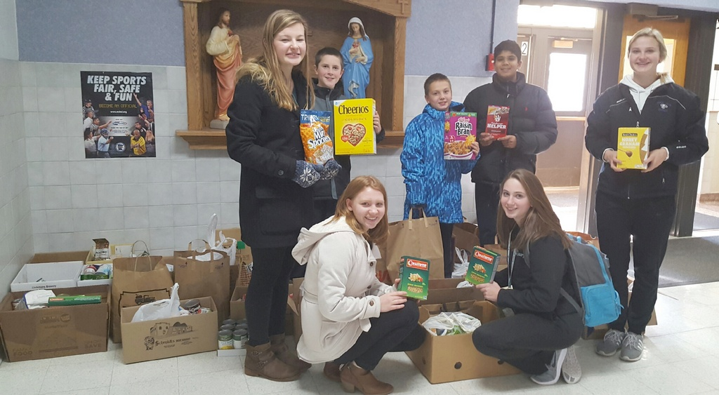 St. Mary's School Food Shelf collection