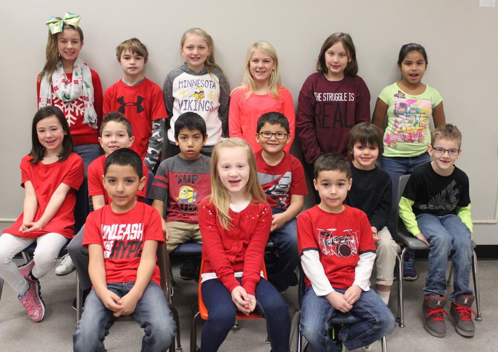 Sleepy Eye Elementary School December Students of Month